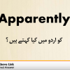 Apparently Meaning in Urdu