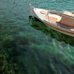 Beautiful Sea & Boat Wallpaper