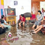 Indian Family in Flood