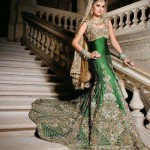 Pakistani Bride Green Dressing