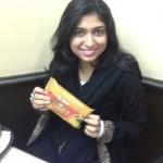 Pakistani Girl in Restaurant